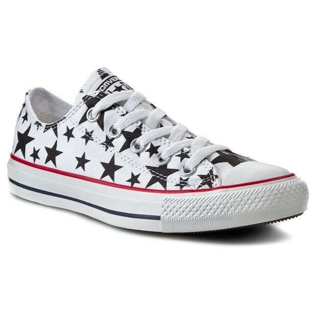 Converse All [TG. Star Ox Low 147120c [TG. All 36] Sneaker Donna Chucks Bianco Nuovo OVP a14648
