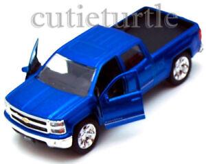 Jada-Just-Trucks-2014-Chevrolet-Silverado-Pickup-Truck-1-32-Diecast-Toy-Blue
