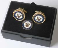Usn United States Navy Seal Cufflinks Lapel Pin Boxed Made In Usa Tuxxman