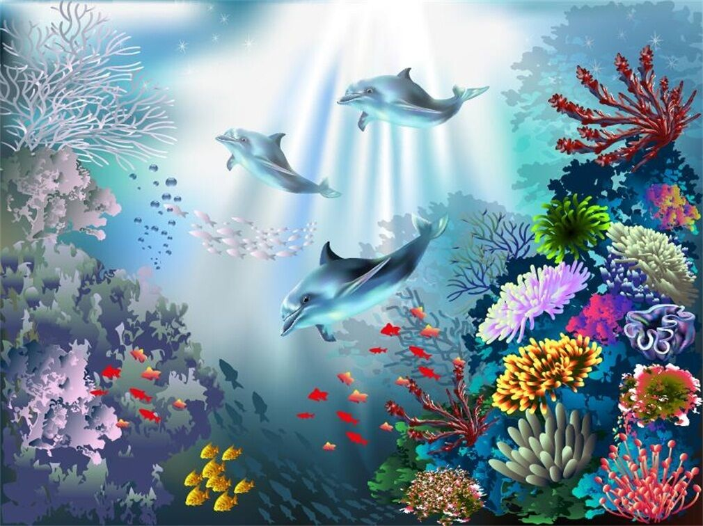 3D Wonderful Ocean 24 Wall Paper Wall Print Decal Wall Deco Indoor AJ Wall Paper