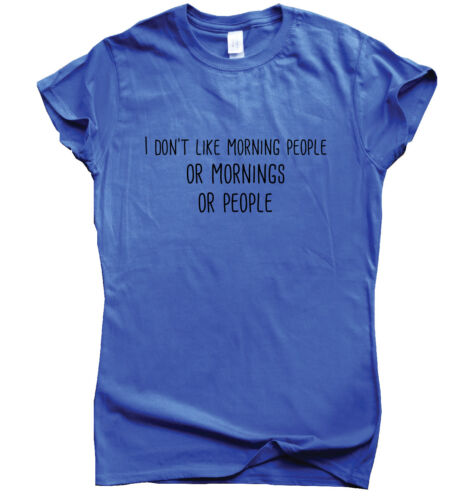 Morning People funny T shirts mens humour gift womens tee sarcastic slogan top