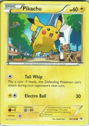 Pokemon Card XY Dragon Lights No 20//108 Pikachu English
