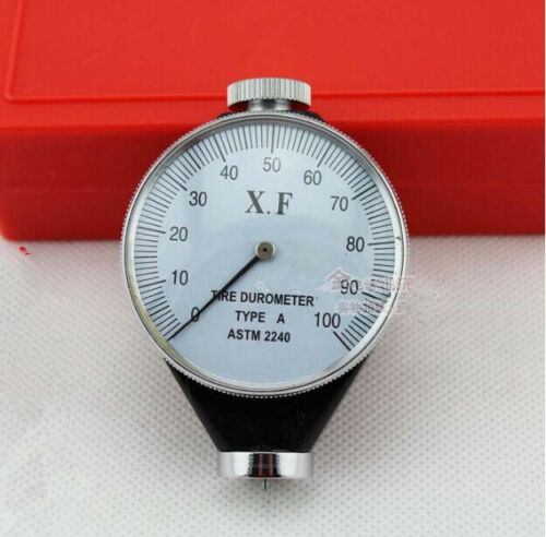 Calibrated Shore Type A Rubber X.F Tire Durometer Hardness Tyre Tester Meter New