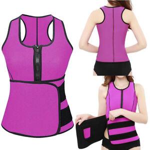 29c9f0f3cc Image is loading Sauna-Waist-Trainer-Vest-Workout-Slimming-Adjustable-Sweat-