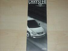 65551) Chrysler Voyager - Preise & Extras - Prospekt 03/2001