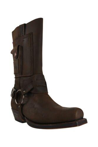 Loblan 620 Medium Square Toe Browm Waxy Leather Boots