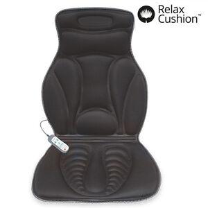 SHIATSU Massaging Mat Black Relaxing Heated Chair Back Massager Car Seat Medivon