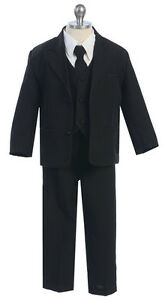 Boys-Suits-Kids-Children-Formal-Dress-Party-Toddler-Gray-Size-S-XL-2T-4T-5-20-S