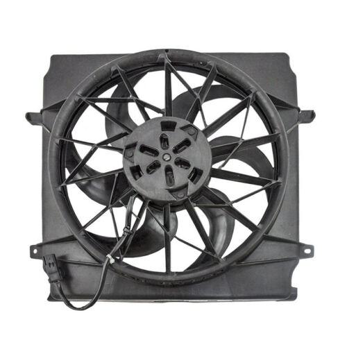 NEW DUAL RADIATOR AND CONDENSER FAN FITS JEEP LIBERTY 2004-2005 55037692AB