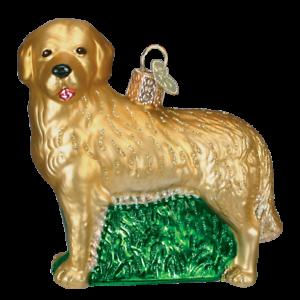 Old-World-Christmas-GOLDEN-RETRIEVER-dog-12203-N-Glass-Ornament-w-OWC-Box