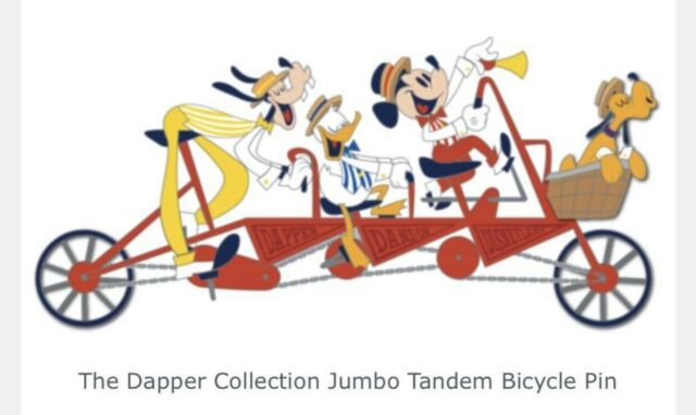 D23 Expo 2019 Dapper Collection Jumbo Tandem Bicycle Pin LE 500 Disney