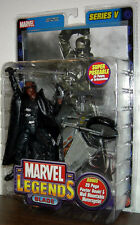 "MARVEL LEGENDS Series 5_BLADE 6 "" figure with Motorcycle_New_Unopened_TOYBIZ_MIP"