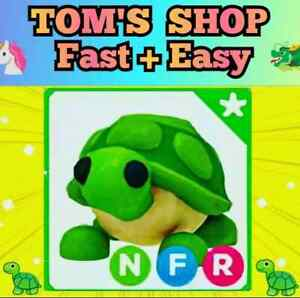 🐢 NEON TURTLE 🐢 with FLY RIDE NFR - Adopt Me - Roblox - flyable rideable pet