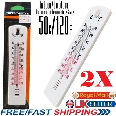 Indoor Outdoor Garden Greenhouse Home Office Room Decor CA Wall Thermometer
