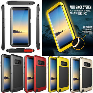 Samsung Galaxy Note 9 S9 Plus Shockproof Metal Hard Heavy Duty Phone Case Cover
