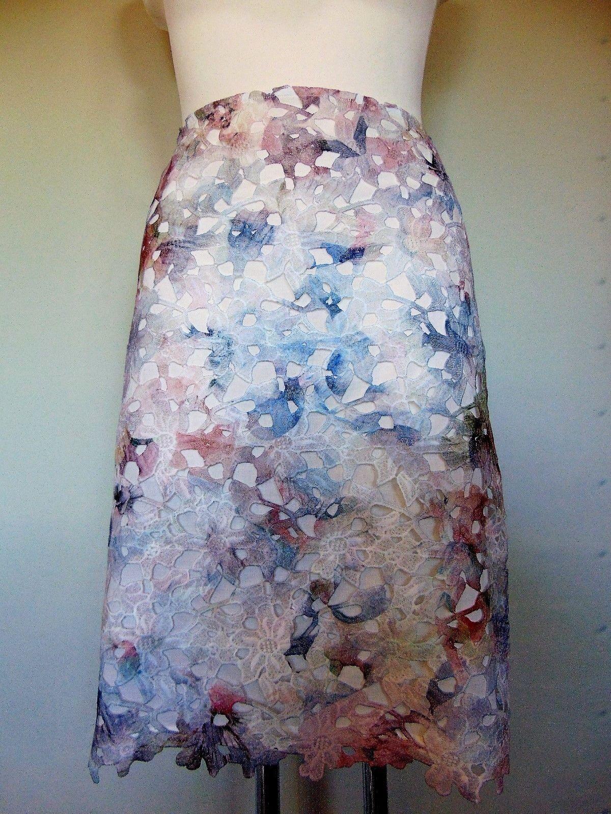 Eleganter Gerry Weber Collection Damenrock Größe 48 Spitzenrock