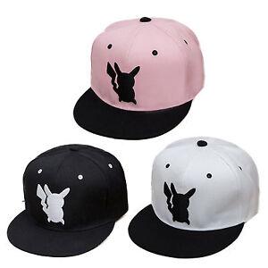 Pokemon Pikachu Unisex Snapback Peak Cap Adjustable Baseball Summer Hip-Hop Hat