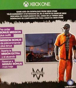 Details about Xbox 1 Watch Dogs 2 Zodiac Killer Mission DLC