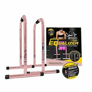 Details about NEW Year Fitness Total Body Strengthener Dip Bars Workout  Home Gym Rose Gold