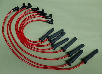 Corvette 84-91 10mm High Performance Red Spark Plug Ignition Wire Set 48486R