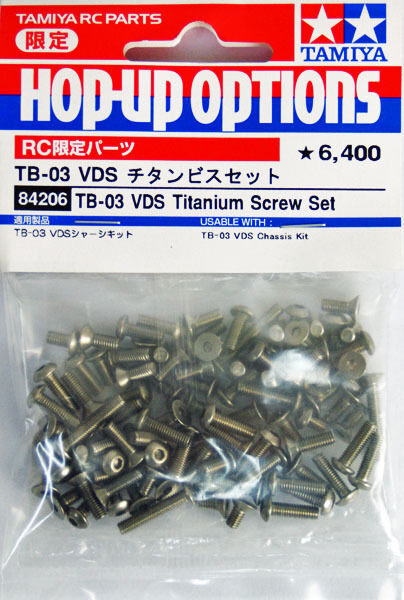 Tamiya 84206 TB-03 VDS Titanium Screw Set