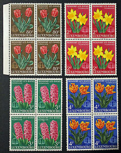 LUXEMBOURG-timbres-Stamps-Yvert-et-Tellier-n-490-a-493-x4-n-cyn8
