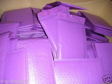LOT OF 50 PURPLE - 4X8 POLY BUBBLE SHIPPING MAILERS #000 XWIDE 4.5X8 ENVELOPES