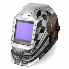 Lincoln Viking 3350 Motorhead Auto Darkening Welding Helmet With4c Lens K3100 4