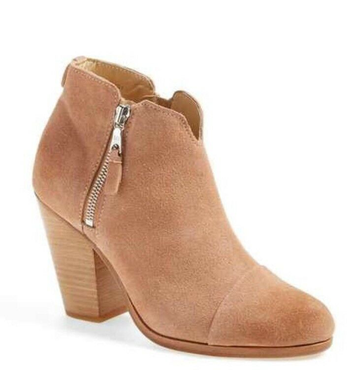 rag and bone 'Margot' Bootie Macaroon Suede Leather SZ 40EU/9.5US