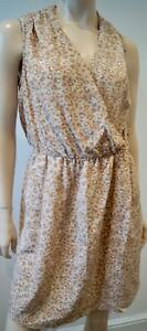 bccc52dc49 Image is loading REBECCA-TAYLOR-Beige-Silk-Leopard-Animal-Print-V-