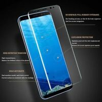 Clear Full Curved 3D Tempered Glass Screen Protector Film Samsung Galaxy S8