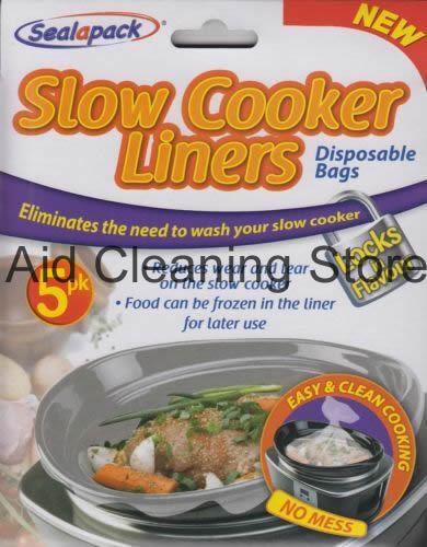 Cocina LENTA SEALAPACK los trazadores de líneas de 5 PK para ollas a lenta Oval redondas y no hay lío Bolsas