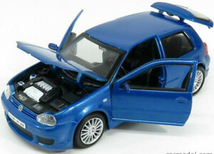 VW-VOLKSWAGEN-GOLF-R32-1-24-scale-diecast-model-metal-die-cast-toy-car-blue