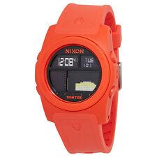 Nixon Rhythm Mens Orange Rubber Digital Watch A385-1156
