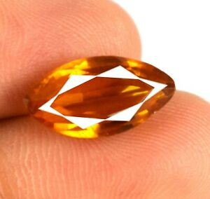 Padparadscha Orange Sapphire 6.95 Ct Marquise Natural Gemstone Certified A45130