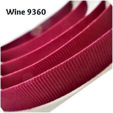 25mm Berisfords Wine Red Grosgrain Ribbon 2m