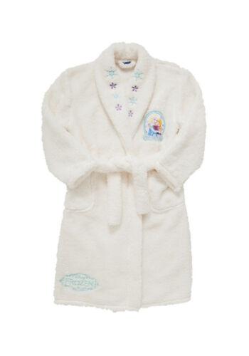 BNWT Disney Frozen Cream Supersoft Fleece Dressing Gown 2-3 Years Anna Elsa