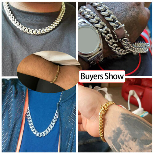 Details about  /Goth Jewelry Cuban Link Chain Men/'s Necklace Hip Hop Boys Gift Punk Style Choker