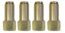 "Air Suspension System 4 Brass Fittings 3/8""NPT Female to 1/4"" Air Hose Push In"