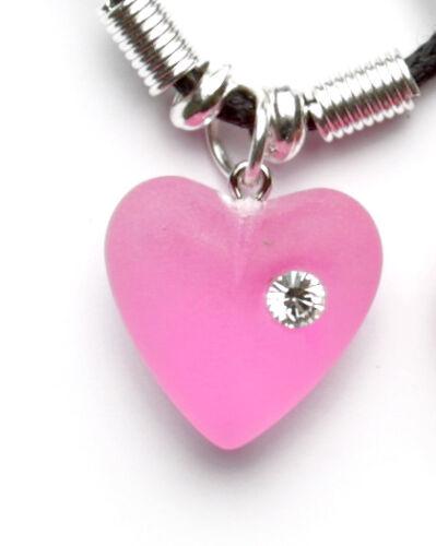 Herz mattiert rosa,pink
