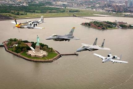 Heritage Flight Nyc Poster Warplanes Military Aviation 24in x 36in
