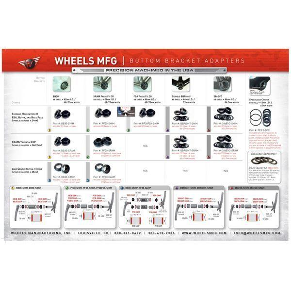 Wheels MFG 386Evo  to SRAM crank axle shims  more order