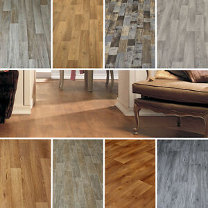 Image Is Loading 2m Wide High Quality Vinyl Flooring Medium Wood