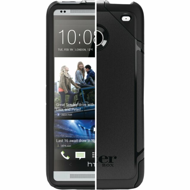 online store 6f8bc 25cc7 OTTERBOX Commuter Series Slim Hybrid Case for HTC One M7 Black Cover Case  OEM