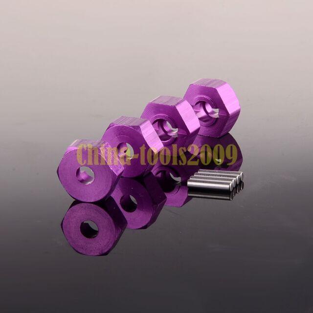 HSP 4P 12mm Wheel Hex 02134/02100 Part 102042 122042 PURPLE For 1/10 RC CAR