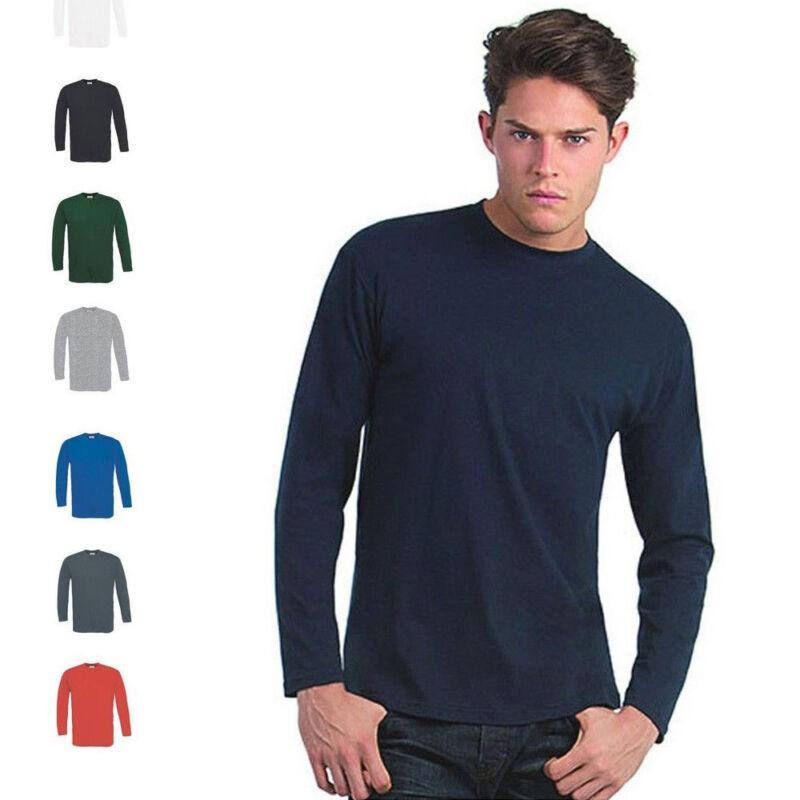 B&c Herren T-shirt Longsleeve Mann Shirt Langarm Lang Exact 150 Ls Langärmliges