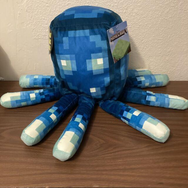 "MINECRAFT Earth Glow Squid 19"" Pillow Glow In The Dark Plush New 2020"