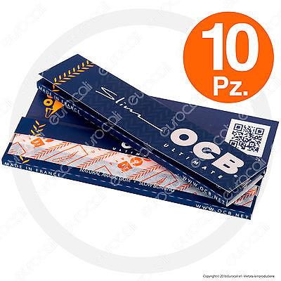 320 Cartine OCB ULTIMATE Lunghe SLIM 10pz KingSize Ultra Sottili