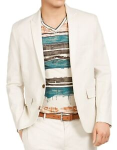 INC Mens Suit Seperates Beige Size Small S Blazer Slim Fit Stretch $139 136