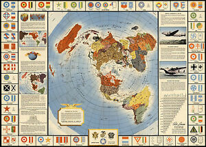 Map global war and peace azimuthal equidistant north polar image is loading map global war and peace azimuthal equidistant north gumiabroncs Images
